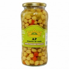 Chickpeas with vegetables cooked 580g AP